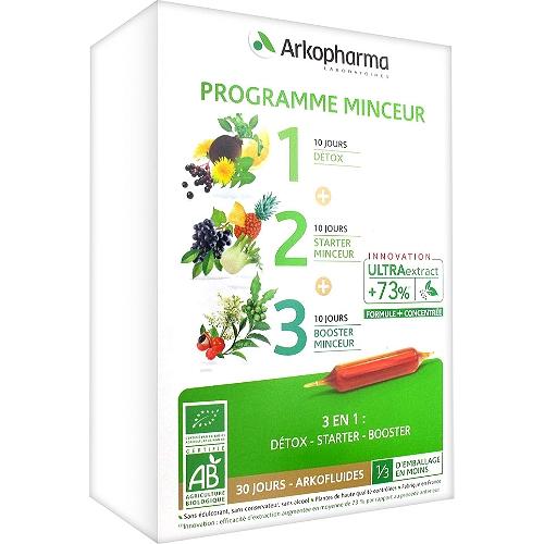 Arkofluides programme minceur bio  30 ampoules 10 ml