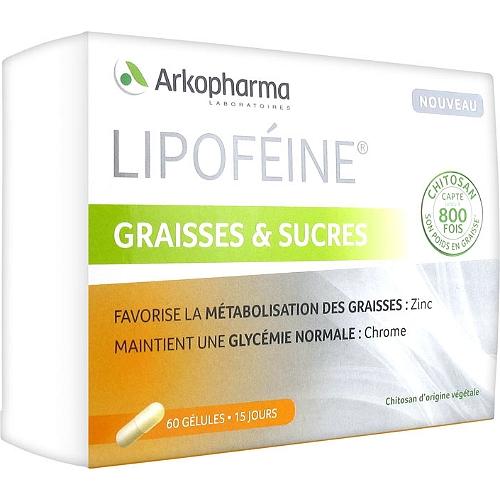 Lipoféine graisses et sucres 60 gélules