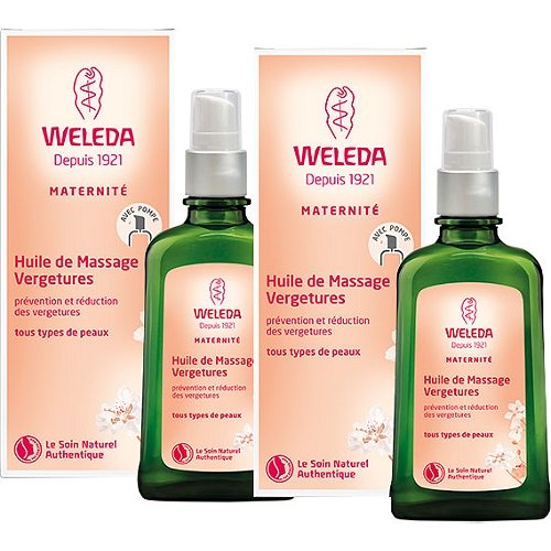 Huile massage vergetures 2x100ml