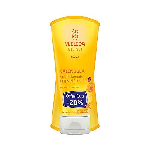 Weleda crème lavante corps et cheveux 2x200ml