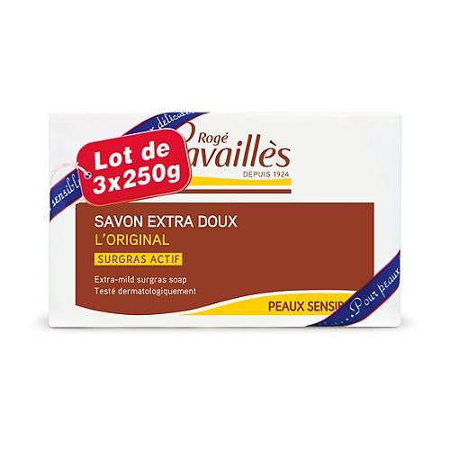 Roge Cavailles Savon Surgras Extra Doux 3x250gr