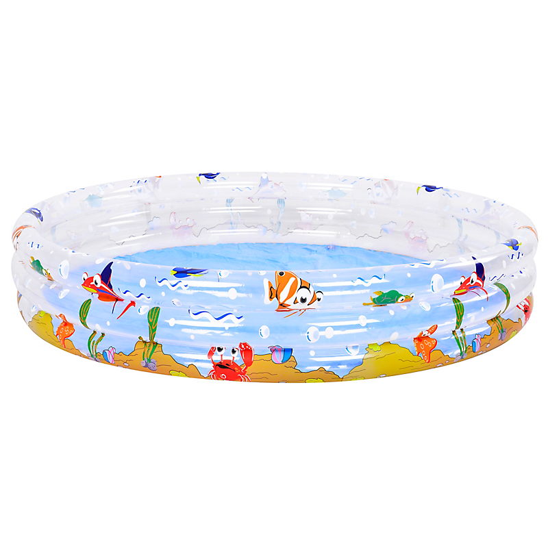 Piscine enfant gonflable Poisson Ø 170 x H. 50 cm - WOODSUN
