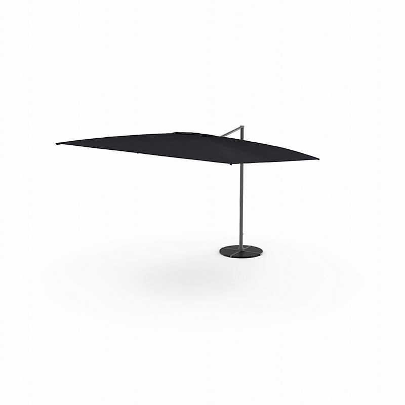 Parasol anthracite excentré 399 x 294 x 270 cm  - BEAUX JOURS