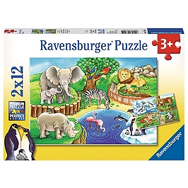 Puzzles 2X12 P - Les Animaux Du Zoo - Aucune - 4005556076024