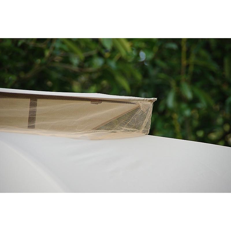 Tonnelle avec rideaux et moustiquaire beige L300 x l.365 x H.295 cm