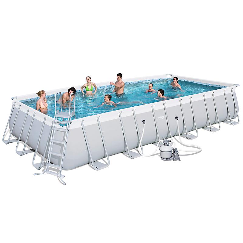 piscine tubulaire rectangulaire power steel 732 x 366 cm maison et loisirs e leclerc. Black Bedroom Furniture Sets. Home Design Ideas