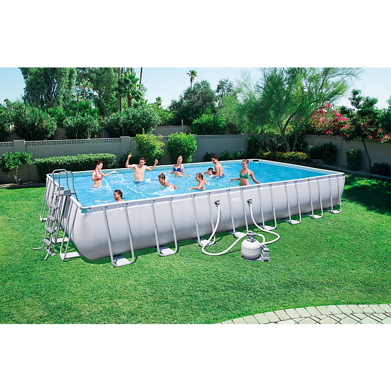 Piscine tubulaire Power Steel rectangulaire 956 x 488 cm