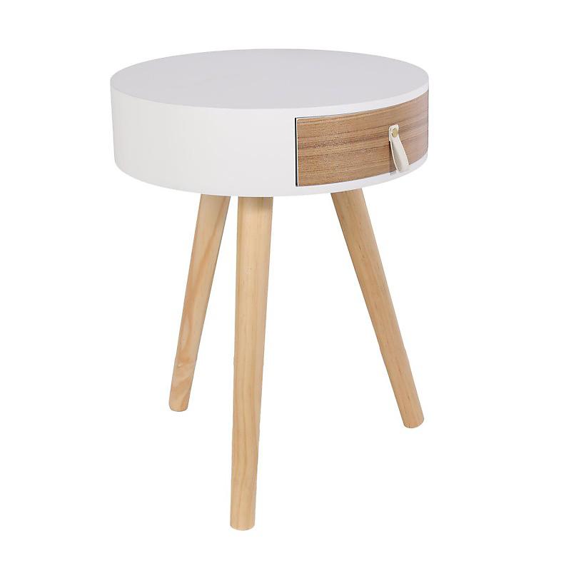 Table de chevet Nora blanche