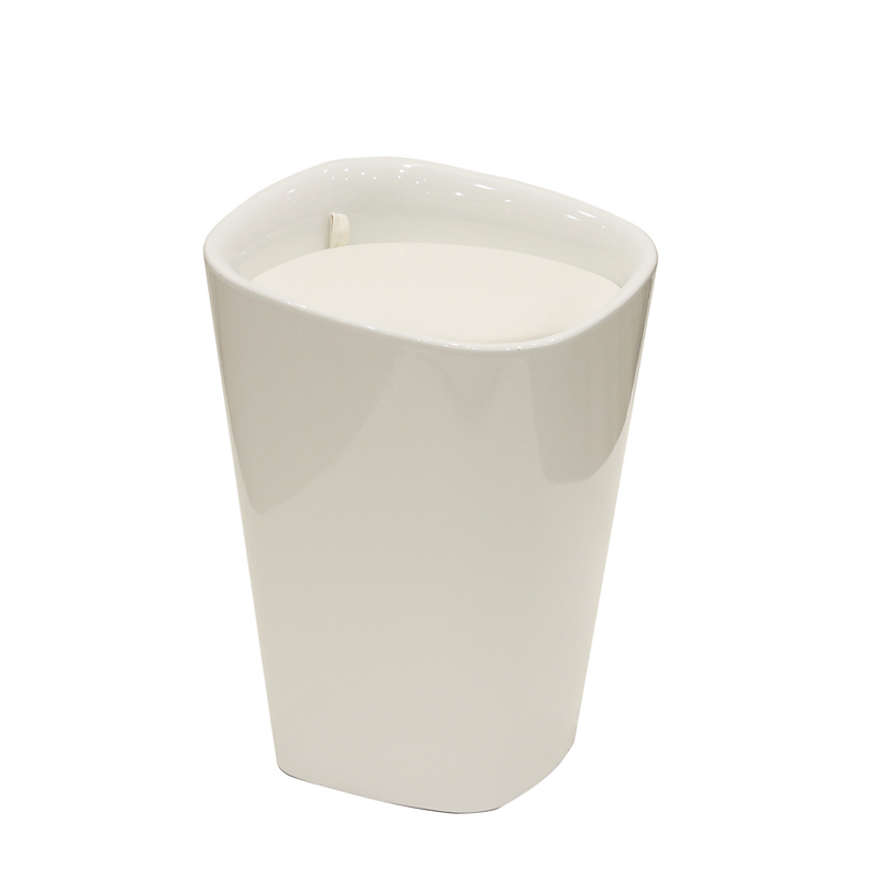 Tabouret Skyler coffre PU Blanc