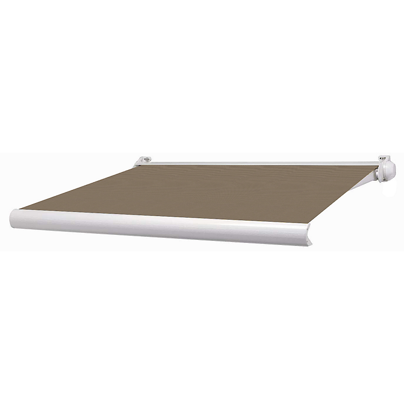 Store coffre Ottawa aluminium blanc manuel 3 x 2