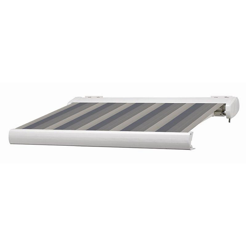 Store coffre Manhattan LED gris et blanc motorisé 5 x 3,5 m
