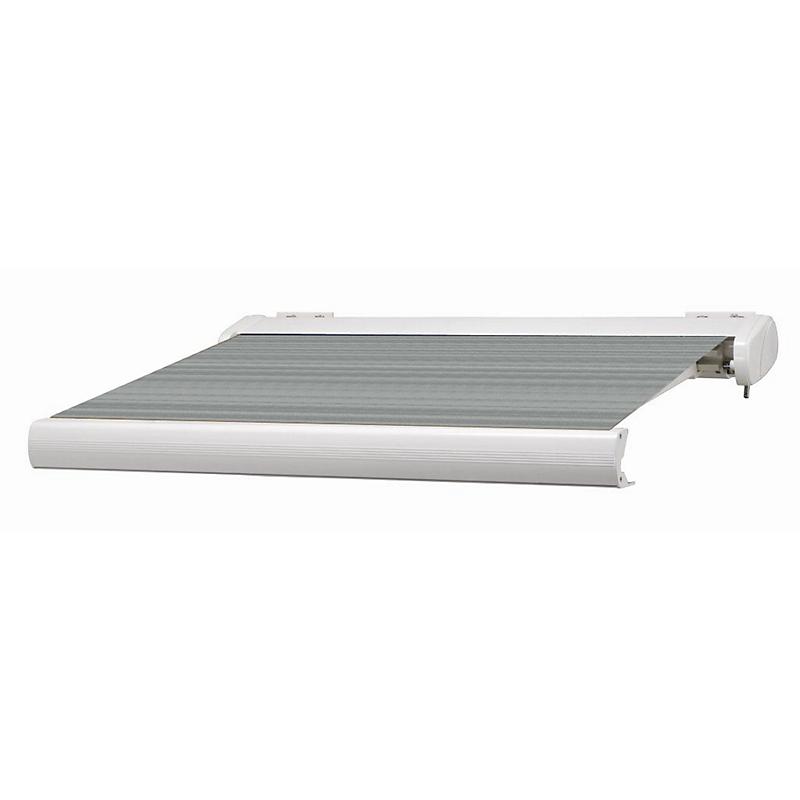 Store coffre Manhattan aluminium gris motorisé 5 x 3,5
