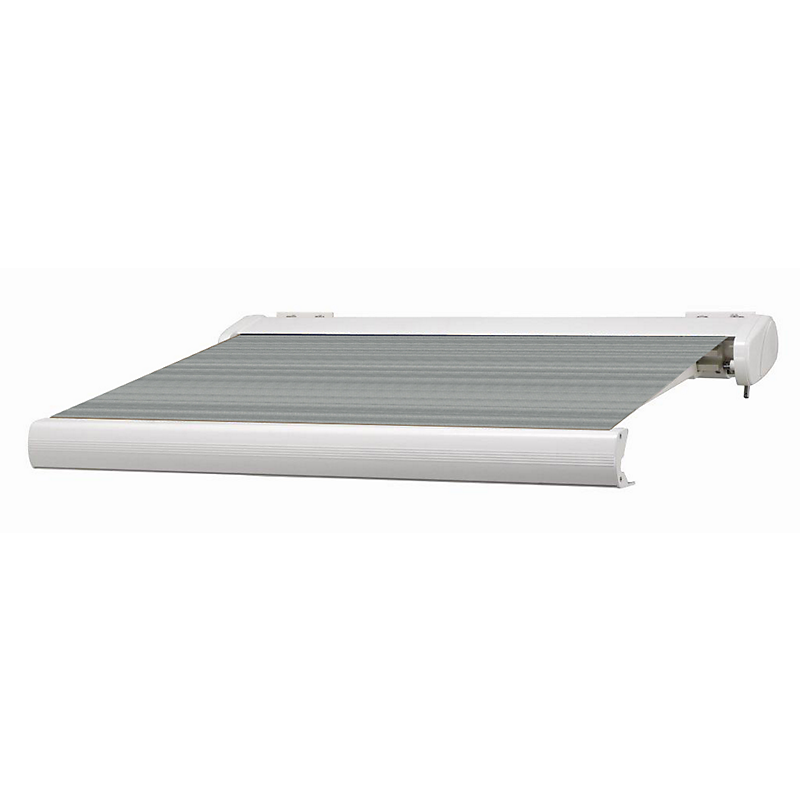 Store coffre Manhattan aluminium gris motorisé 6 x 3,5