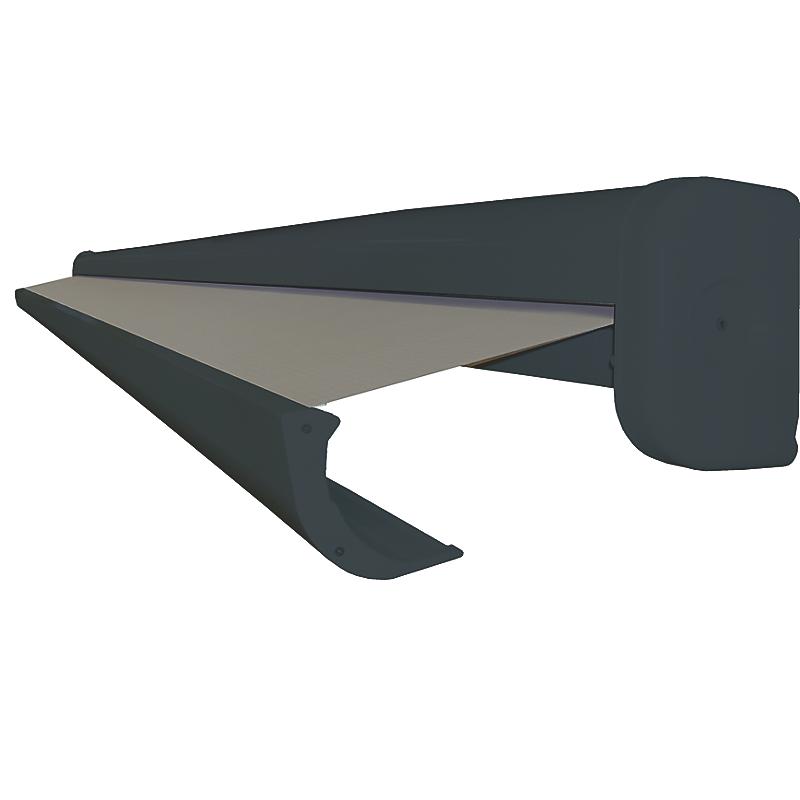 Store coffre Lisboa manuel aluminium gris anthracite 4 x 3