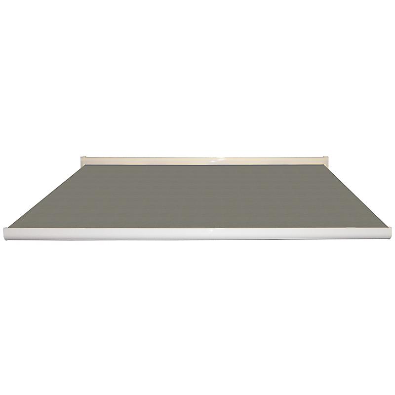 Store coffre Lisboa aluminium uni gris motorisé 5 x 3