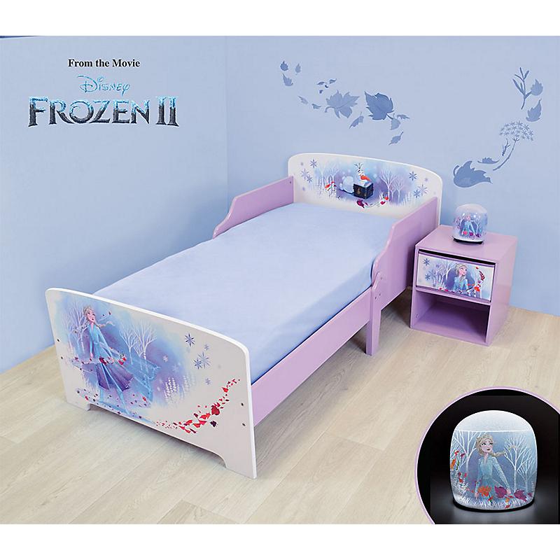 Pack chambre (lit + table de chevet + veilleuse LED) Reine des Neiges II