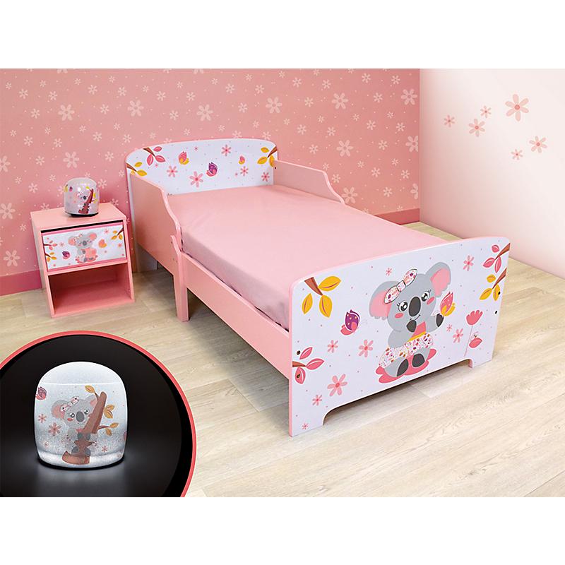 Pack chambre (lit + table de chevet + veilleuse LED) Mimi Koala