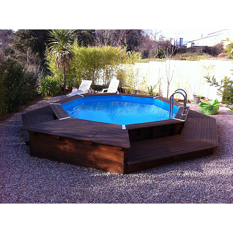piscine en bois oc a octogonale 430 cm maison et loisirs e leclerc. Black Bedroom Furniture Sets. Home Design Ideas