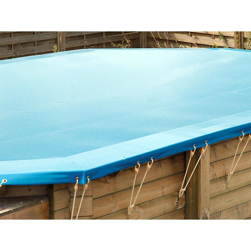Bâche hiver pour piscine octogonale Ø430 cm