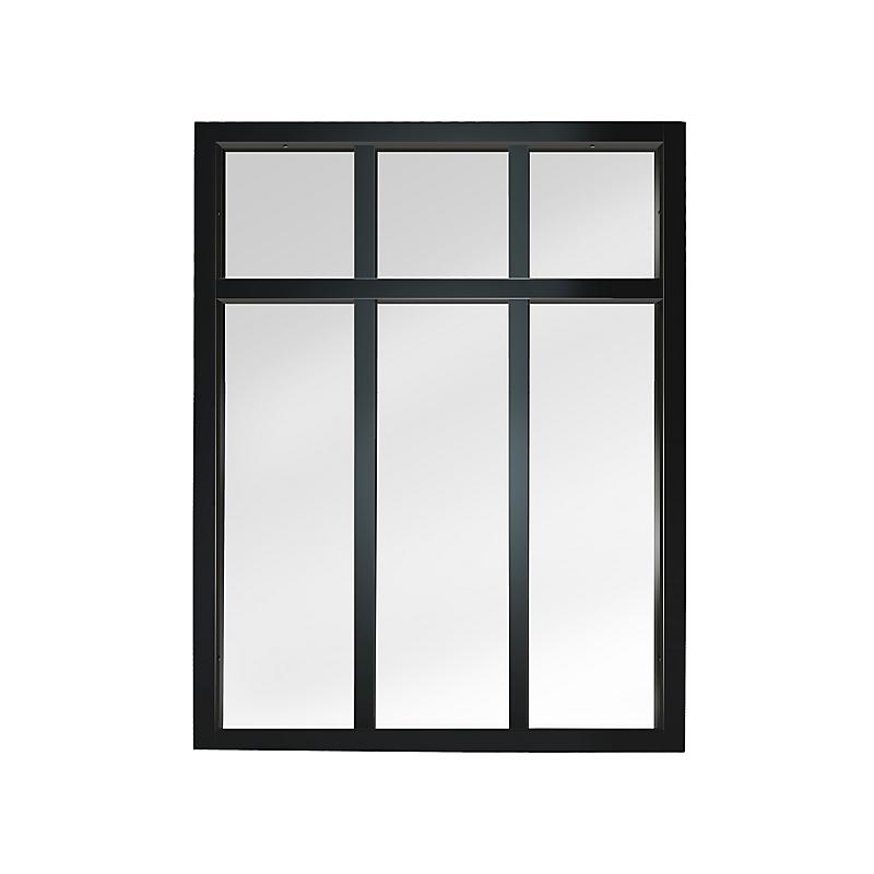 Verrière Atelier en kit 6 carreaux, obéché noir effet métal