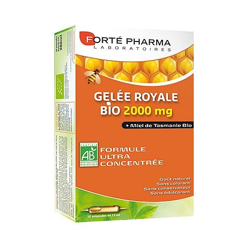 Forte pharma gelee royale bio 2000mg 20 ampoules de 15ml