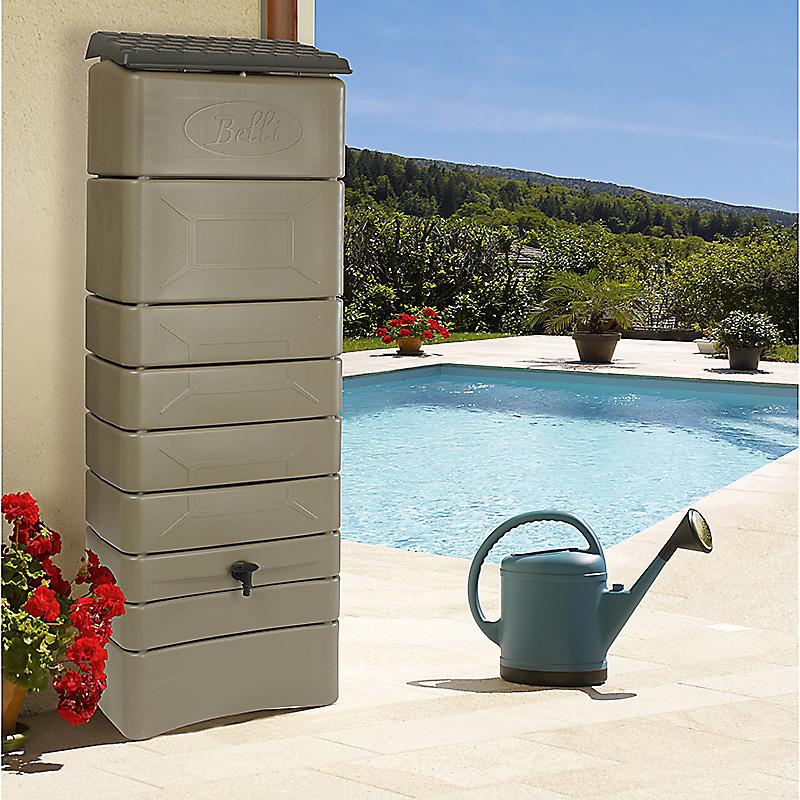 Kit récupérateur d'eau mural 300 l