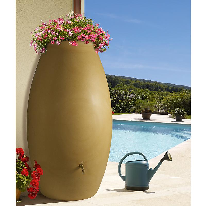 Récupérateur d'eau de pluie beige 1000 L