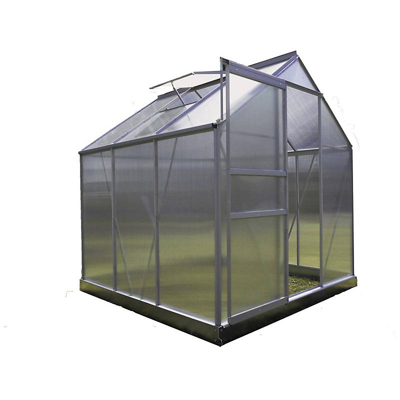 Serre jardin polycarbonate 3.6 m²  Diamant 66