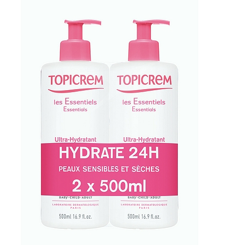 Topicrem ultra-hydratant lait corps 2x500ml