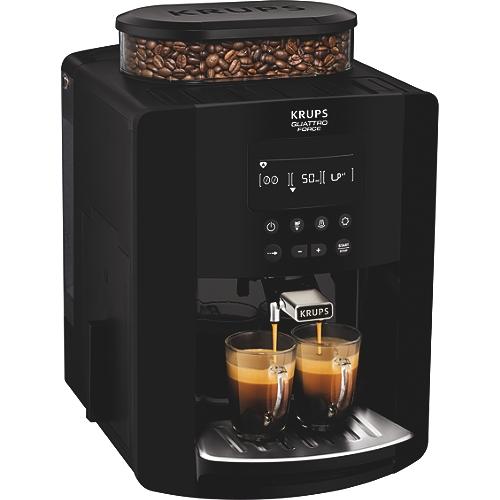 Expresso broyeur à café grains KRUPS Arabica noire écran ...