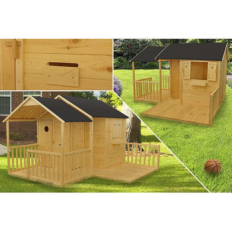 Maisonnette bois DEVA 5,83 m² en sapin et pin