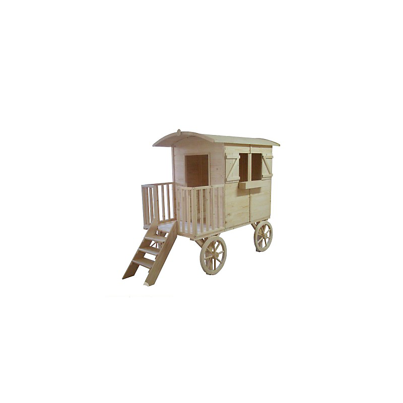 Maisonnette Roulotte en bois