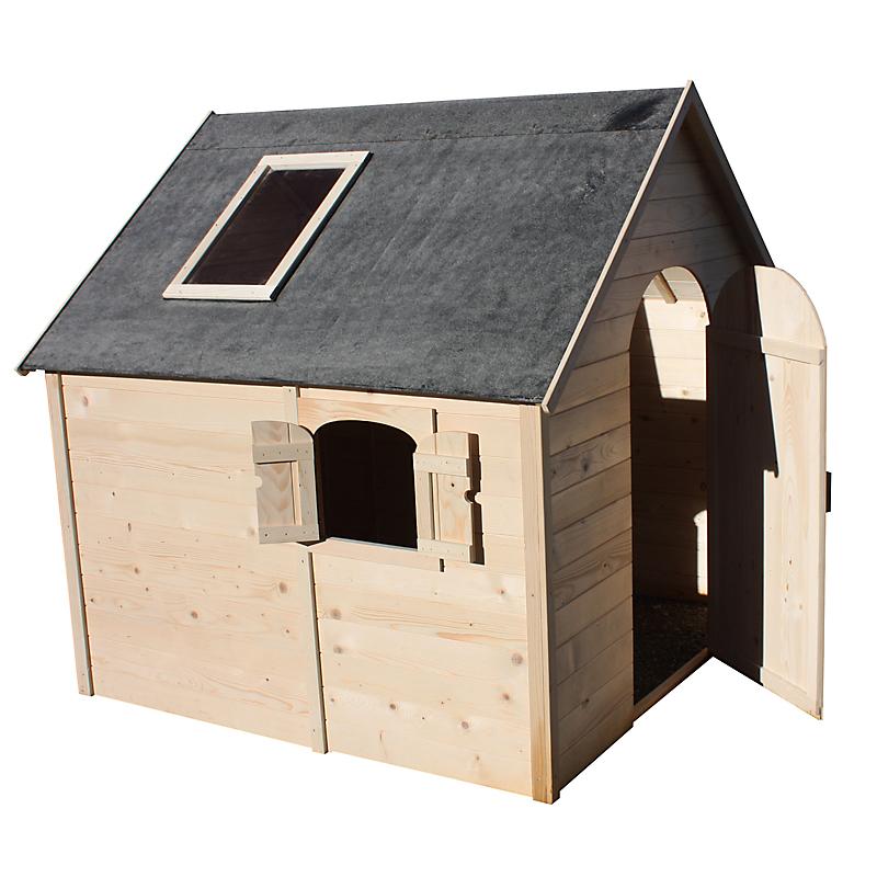 Maisonnette enfant bois SERRE 1,75 m² en sapin