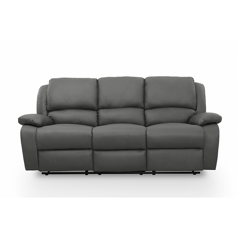 canap relax 3 places pu gris maison et loisirs e leclerc. Black Bedroom Furniture Sets. Home Design Ideas