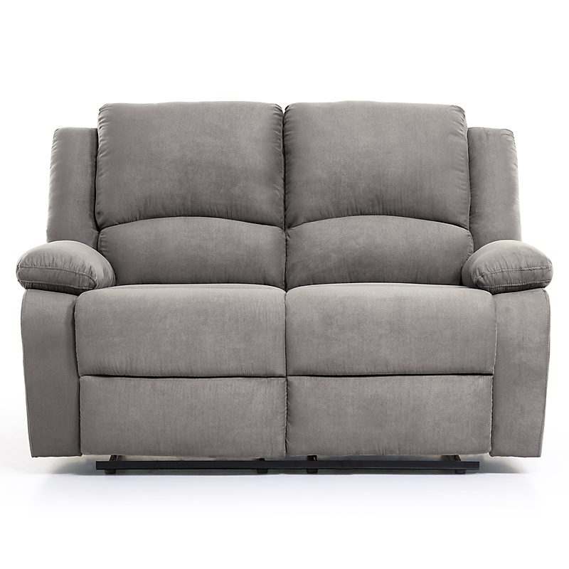 canap relax microfibre 2 places gris maison et loisirs e leclerc. Black Bedroom Furniture Sets. Home Design Ideas
