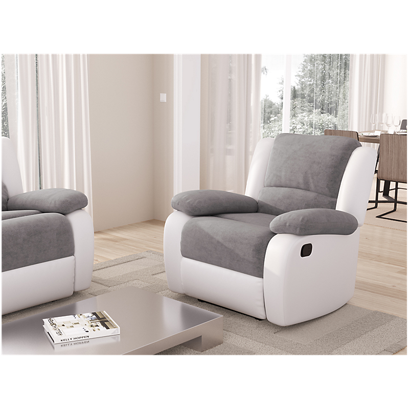 Fauteuil RELAX gris/blanc