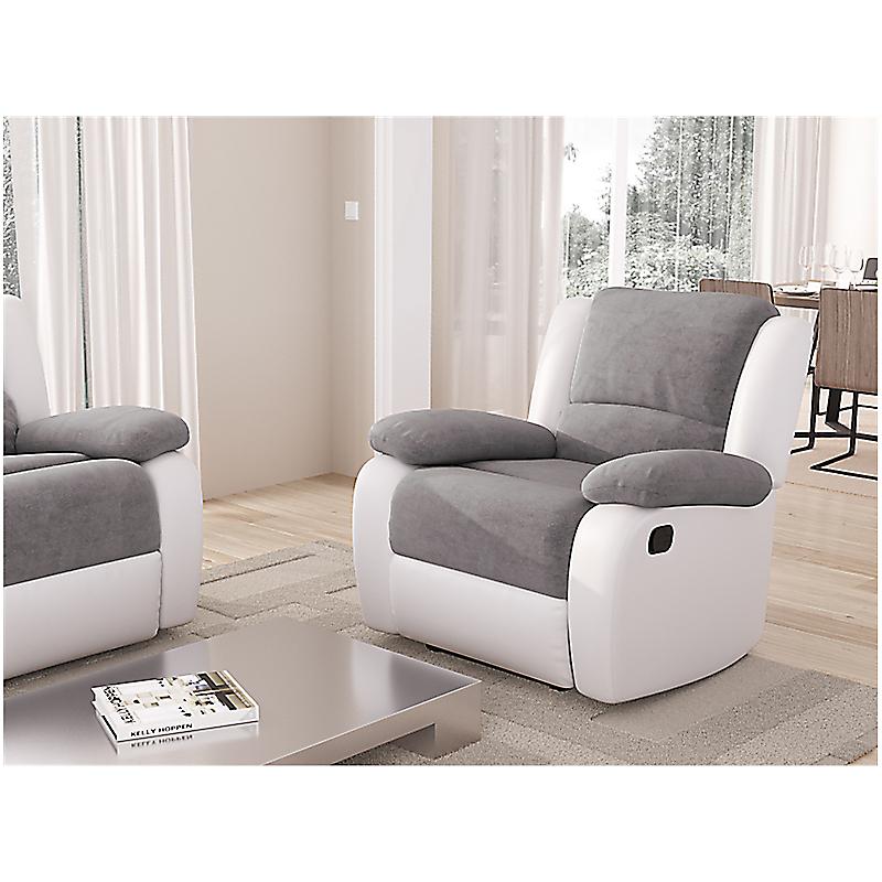 grossiste c871a 36531 Fauteuil RELAX gris/blanc - Maison et Loisirs E. Leclerc