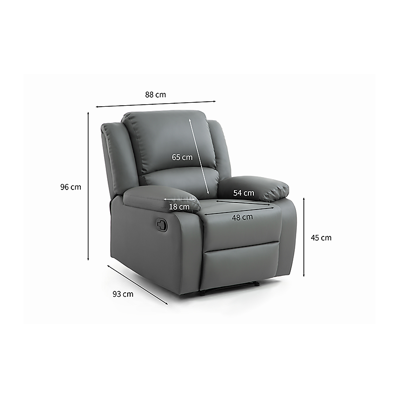 Fauteuil RELAX 1 place PU gris