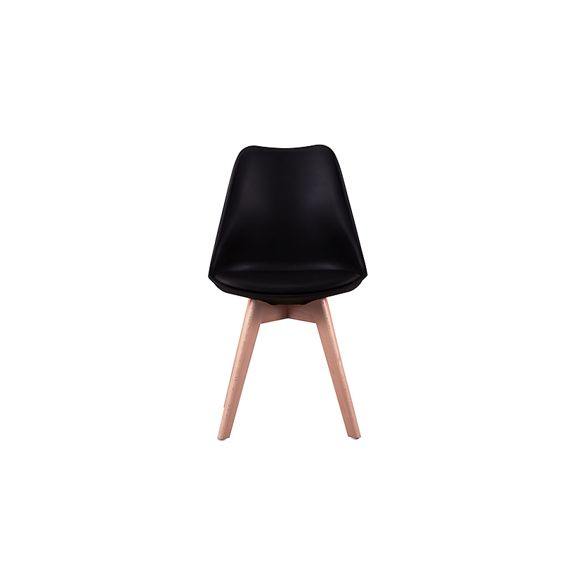 Lot de 2 chaises scandinaves ANDREAS noir