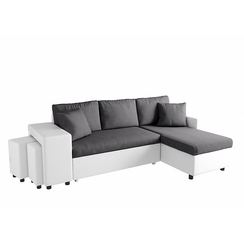 Canapé d'angle 3 places Blanc