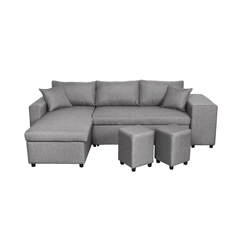 Canapé d'angle 3 places Gris