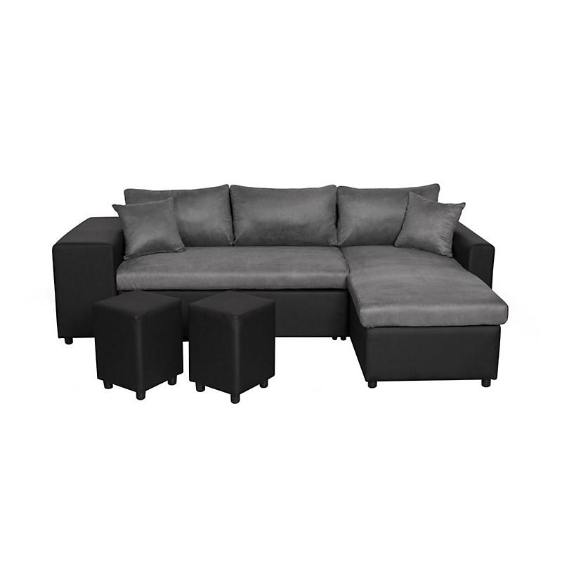 Canapé d'angle 3 places Cuir