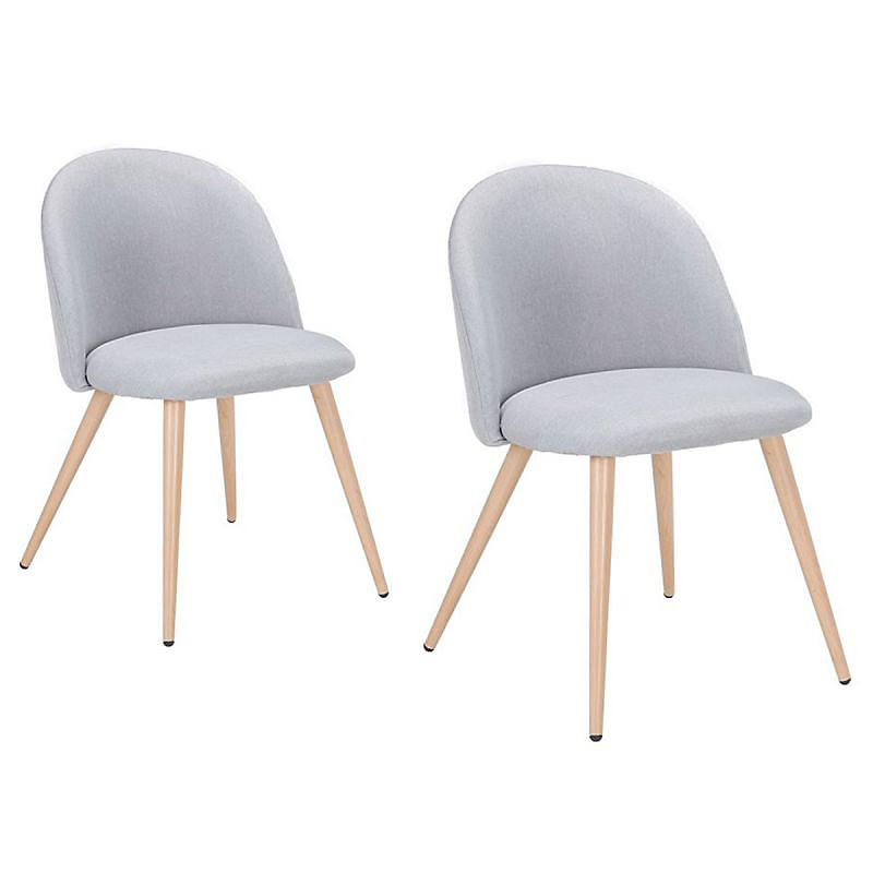 Lot de 2 chaises scandinaves CHELDON gris clair