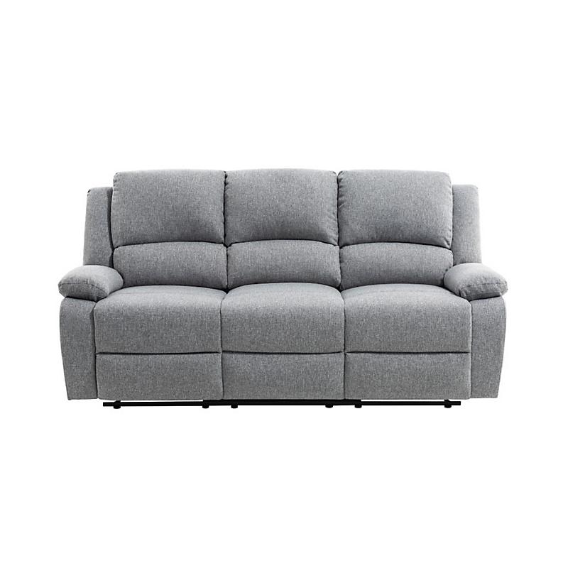 Canapé de relaxation 3 places RELAX en tissu chiné gris clair
