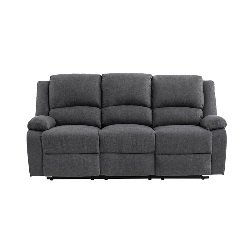 Canapé de relaxation 3 places RELAX en tissu chiné gris foncé