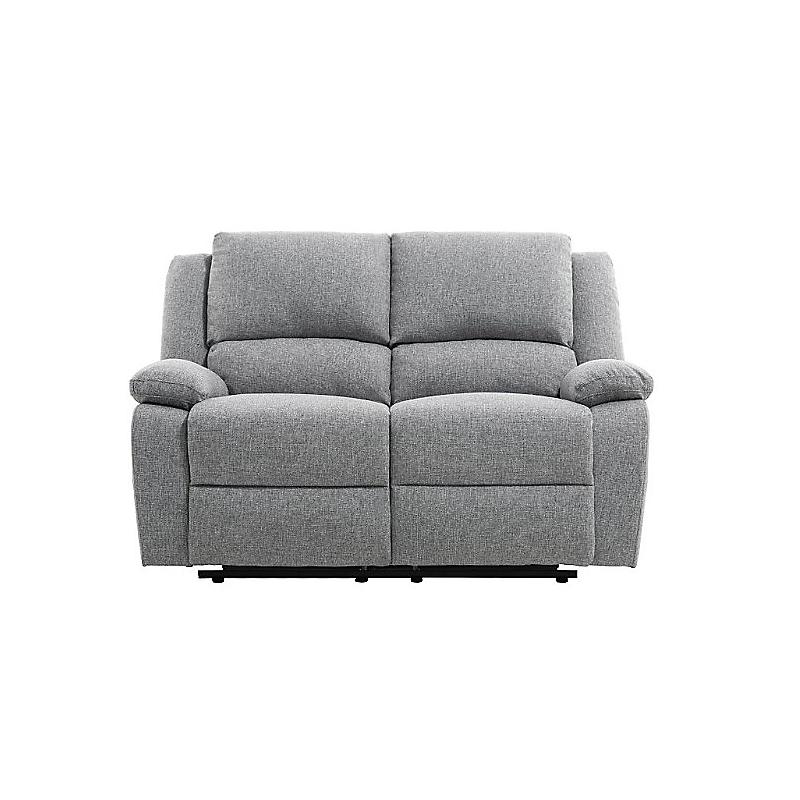 Canapé de relaxation 2 places RELAX en tissu chiné gris clair