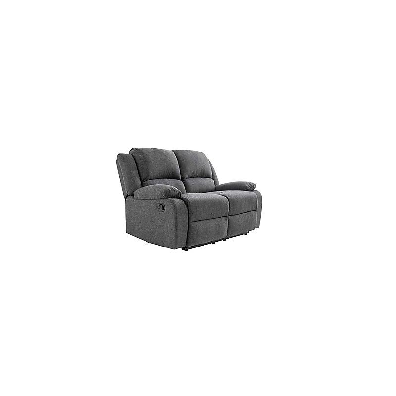 Canapé de relaxation 2 places RELAX en tissu chiné gris foncé