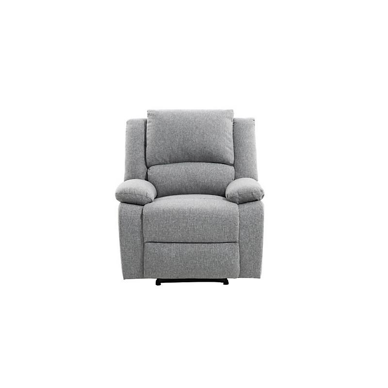 Fauteuil de relaxation RELAX en tissu chiné gris clair