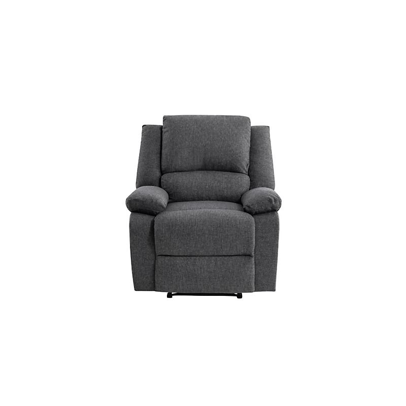 Fauteuil de relaxation RELAX en tissu chiné gris foncé