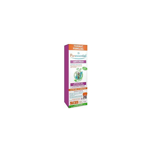 Lotion traitante anti-poux avec peigne- format familial - 200 ml